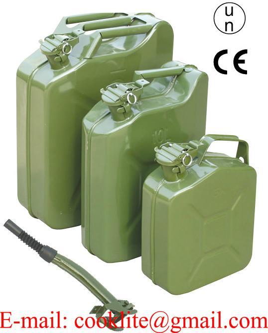 Askeri Jerry-Can Metal Yakıt Benzin Bidonu