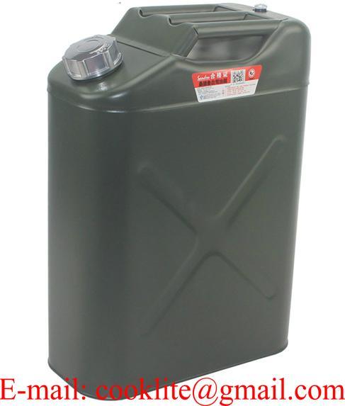 Wojskowy blaszany kanister na paliwo benzynę olej 20L