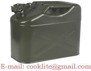 Kanister metalowy blaszany na paliwo benzyne 10L / Stalowy kanister / Kanistry Metalowe