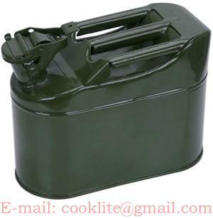 Wojskowy blaszany kanister na paliwo 5L / Metalowy kanister / Kanister stalowy