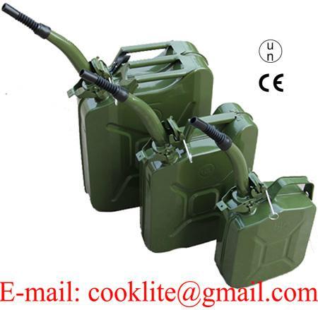 Plechová bandaska / kanister pre pohonné hmoty benzín alebo naftu