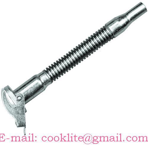 Flexibilná nalievacia hubica určená pre oceľové kanistre