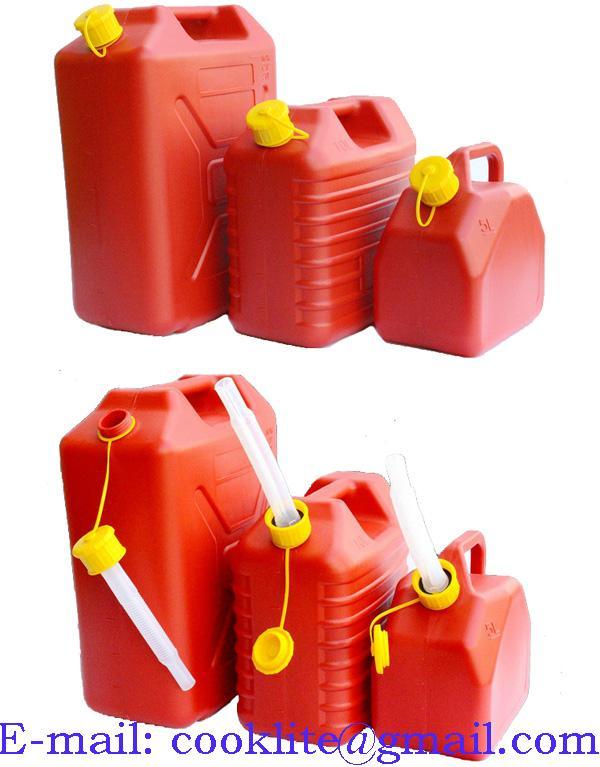 Muovinen bensakanisteri jerrykannu punainen 5L-10L-20L