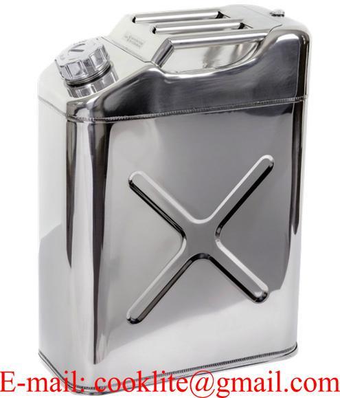 Jerrican de transport inox pour huile et carburant 20L