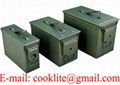 Military-spec metal ammo can
