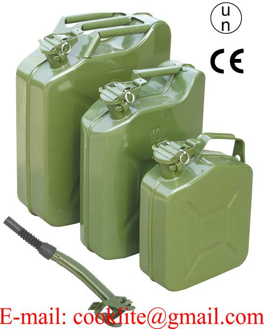 NATO Style Jerry Can Fuel Diesel Petrol Can Metal Gasoline Tank Emergency Backup