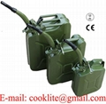 NATO Military Jerry Can with Rigid Pouring Spout / Nozzle