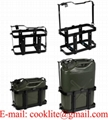 Vertical Steel Jerry Can Rack / Holder for 10L/20L NATO Metal Jerry Cans