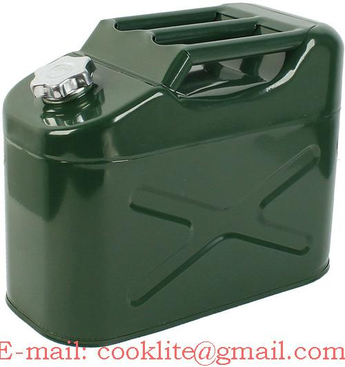 10 Litre metal jerry can diesel oil fuel transport / storage petrol 3 bar handle