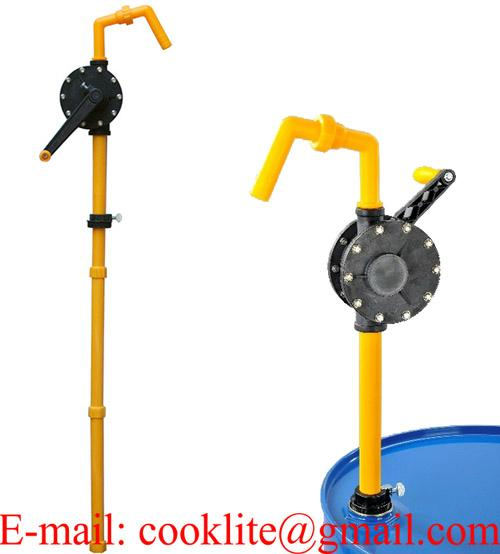 RP-90R Rotary Drum Pump Black Ryton with Teflon Seals for 205 Litre Drums