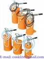 Portable hand-operated oil dispenser lever grease bucket pump