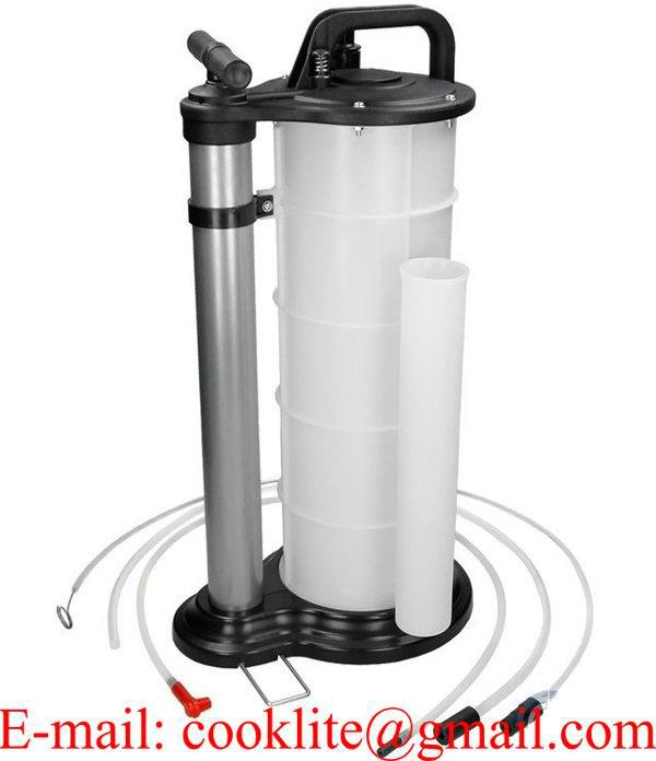 Bomba de succión de aceite extractor sifón manual polietileno resistente 9 ltr