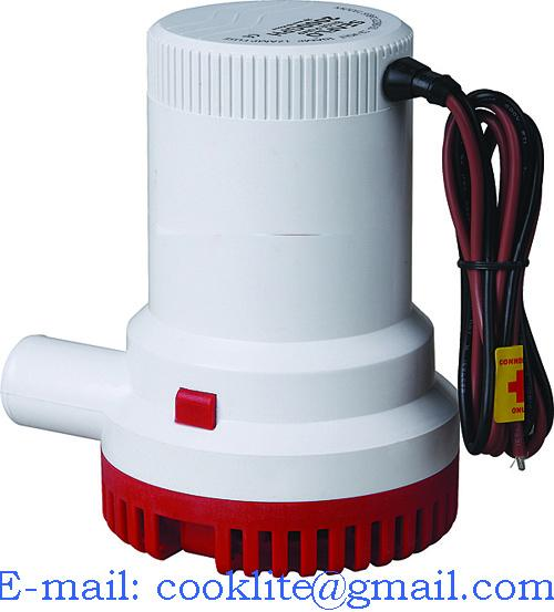 2000 Gph 12v Agua Bomba De Achique Desmontable Base Sumergible Potente Barco