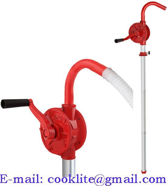Bomba manual rotativa em ferro fundido com manivela