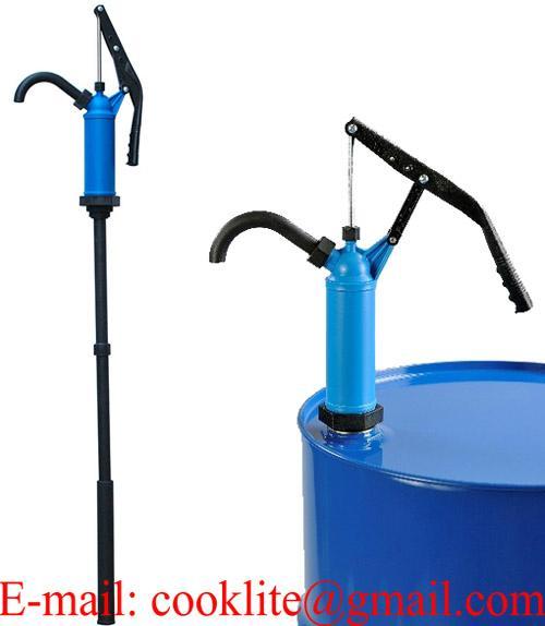 Pompa travaso manuale per olio fusti liquidi barile taniche a stantuffo pistone