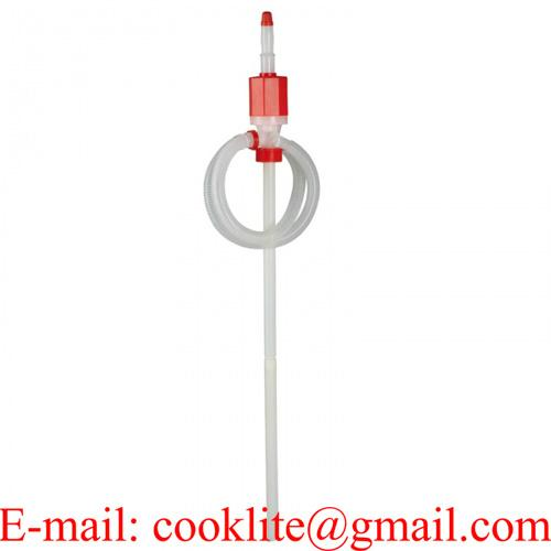 Pompa a sifone manuale in plastica travaso liquidi per fusti