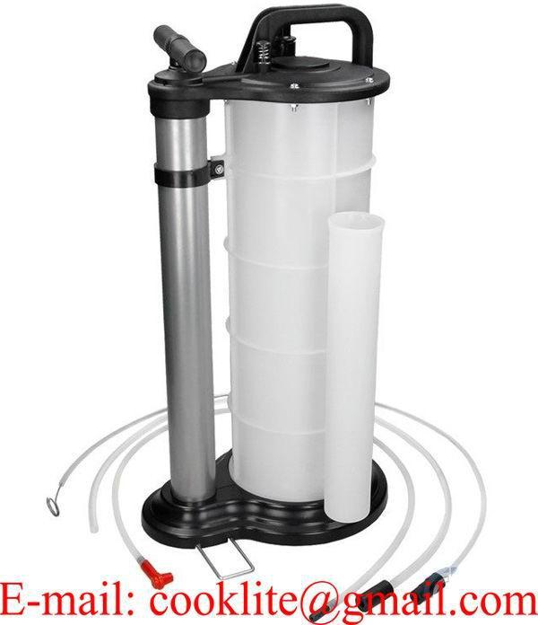 Aspirator pentru lichide cu actionare manuala sau pneumatica si rezervor de 9 litri