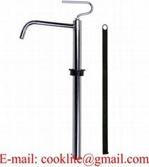 Manual 5 Gallon Solvent Resistant Steel Pail Pump Vertical Lift Piston Pump