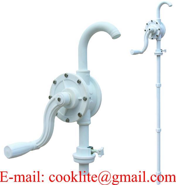 Ruční rotační plastové sudové čerpadlo pumpa na AdBlue a chemikálie