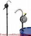 Rotační sudové čerpadlo pumpa na chemikálie / Ruční klikové rotační čerpadlo na kyseliny a louhy