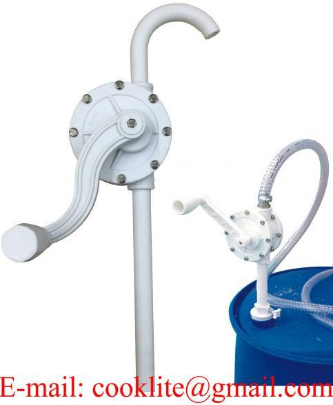 Nesteen käsipumppu rotaatiopumppu muovinen tynnyripumppu kemikaaleille ja vesipohjaisille pesuliuoksille
