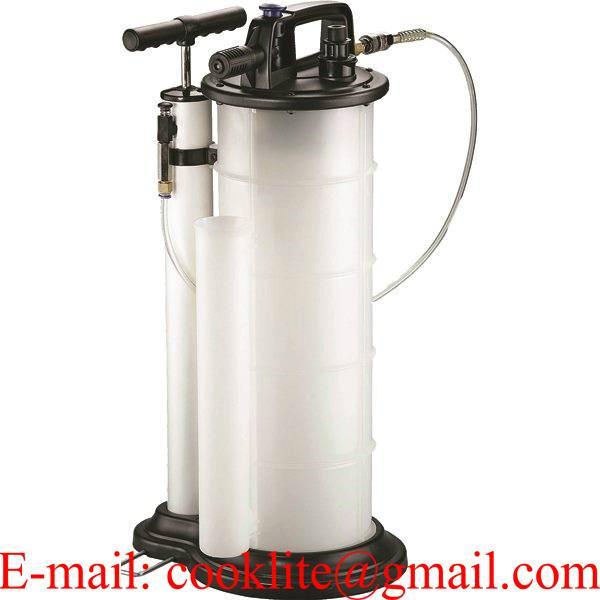 Rankinis techninių skysčių išlsiurbimo / įsiurbimo bakas 9L su vakuuminiu siurbliu