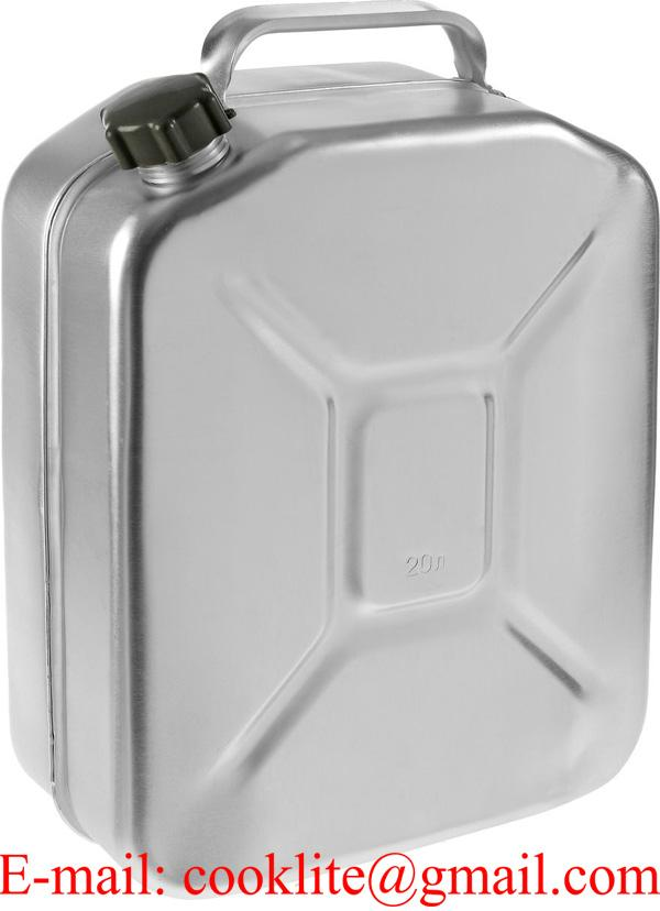 Aluminum Jerry Can Fuel Petrol Diesel Tank Portable Oil Water Container With Screw Cap 20L