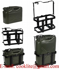 Vertical Jerry Can Holder Steel Mounting Rack