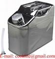 10L 304 Stainless Steel Jerry Can Vertical Fuel Water Storage Tank for Boat/4WD/Car/Motorbike