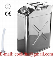 20L Stainless Steel Jerry Can Water Oil Storage Petrol Fuel Tank Motorbike Boat