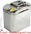 25 Liter Fuel Diesel Petrol Container Stainless Steel Oil Water Jerry Can