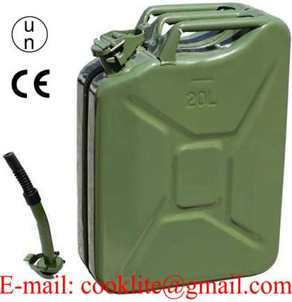 5 Gallon Metal Petrol Jerry can Portable Fuel Container