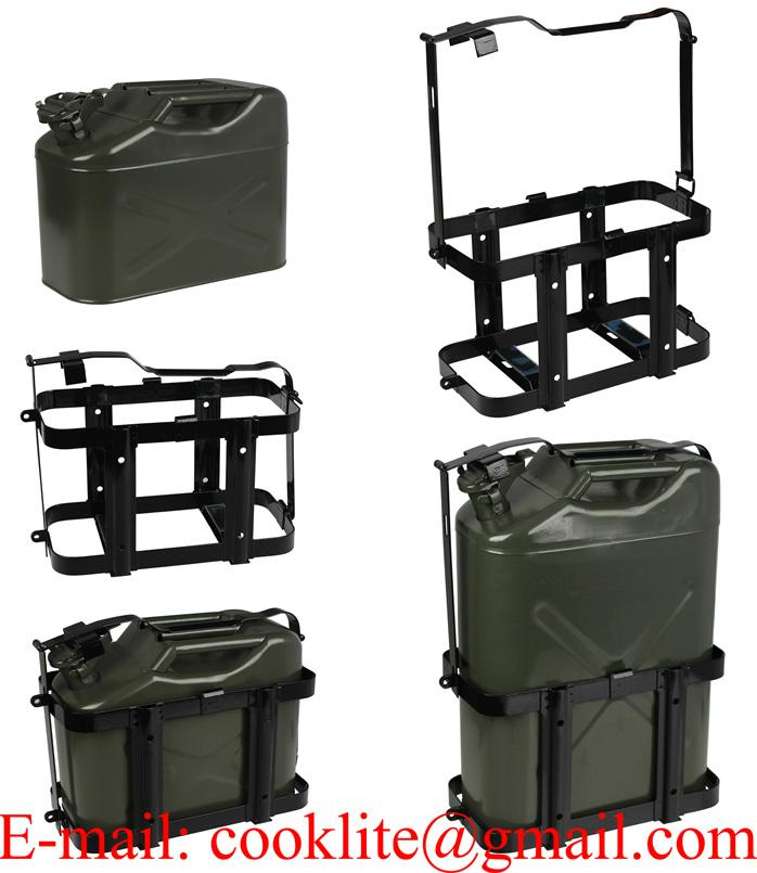 Steel Jerry Can Rack / Holder for 10L/20L Vertical NATO Metal Jerry Cans