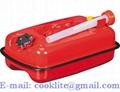 Canistra benzina sau motorina 5L din tabla cu furtun flexibil transfer lichide