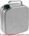 Aluminium jerrycan/benzinekan 10 liter met schroefdop voor opslag en vervoer van brandstof