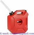 Plastic benzinekan/jerrycan 3 liter met flexibele vulslang