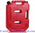 Benzinekan/jerrycan kunststof 10 liter voor benzine en diesel