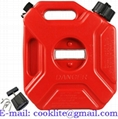 Benzinekan/jerrycan kunststof 5 liter met schenktuit voor benzine en diesel