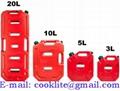 Kunststof jerrycan/benzinekan met tuit voor benzine en diesel