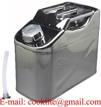 Tanica in acciaio inox 10 litri per trasporto carburante o acqua