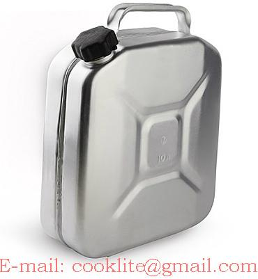 Tanica in alluminio 10 litri per trasporto acqua e carburanti
