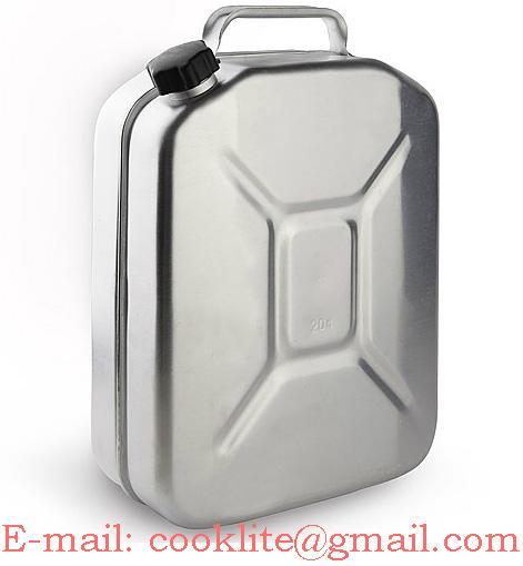 Tanica in alluminio 20 litri per trasporto carburante benzina gasolio
