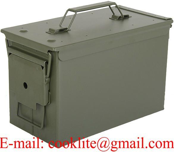 Caisse métallique de rangement munitions / Boîte à munition grand modèle PA108