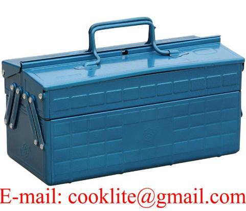 Boîte coffre à outils métallique 2 cases