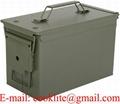 Amerikansk ammunitionslåda plåt försvaret PA108 Militär utrustning ammoförvaring låda