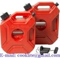 Kompakt reservtank 5 liter bränsletank med snabbfästen för snöskoter eller ATV