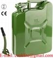 Μεταλλικό δοχείο / μπιτόνι καυσίμου Βενζίνης - Πετρελαιου 10 λίτρων με τάπα ασφαλείας