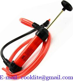 Plastic manual siphon oil fuel chemicals liquids fluids transfer pump