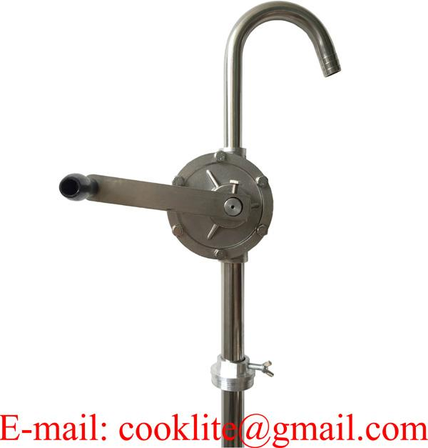 304 Stainless Steel Hand Operated Rotary Drum Pump