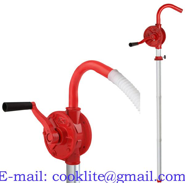 Rotary Vane Hand Crank Curved Spout Fuel Transfer Pump